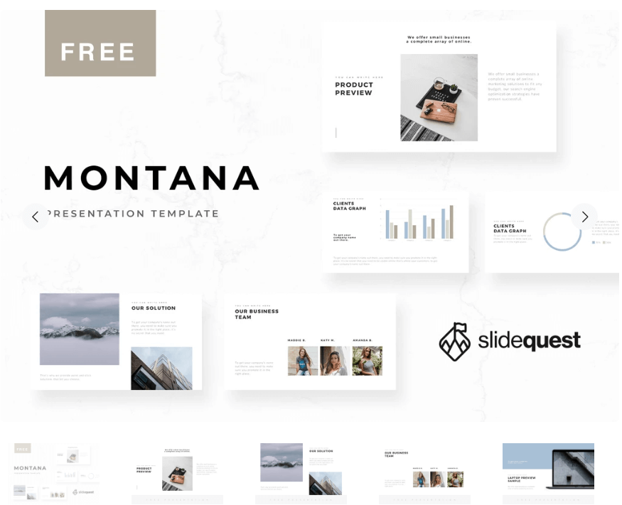 Montana Minimal Free Presentation Template