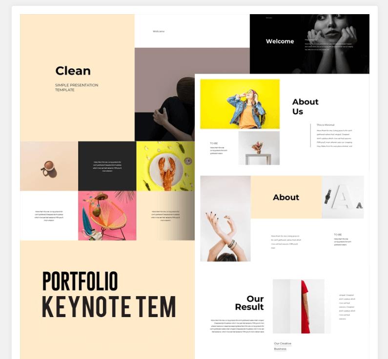Colourful Portfolio Keynote Template