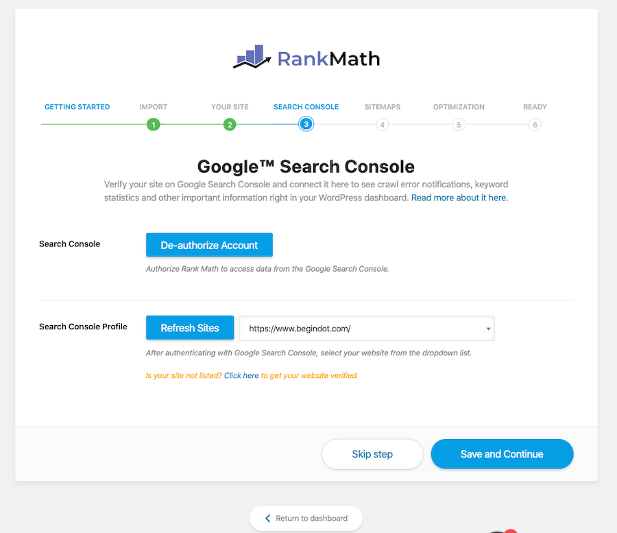 Connect With Google Search Console.