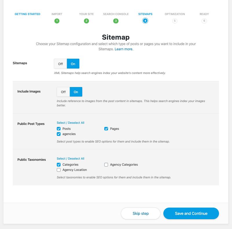Create Sitemaps
