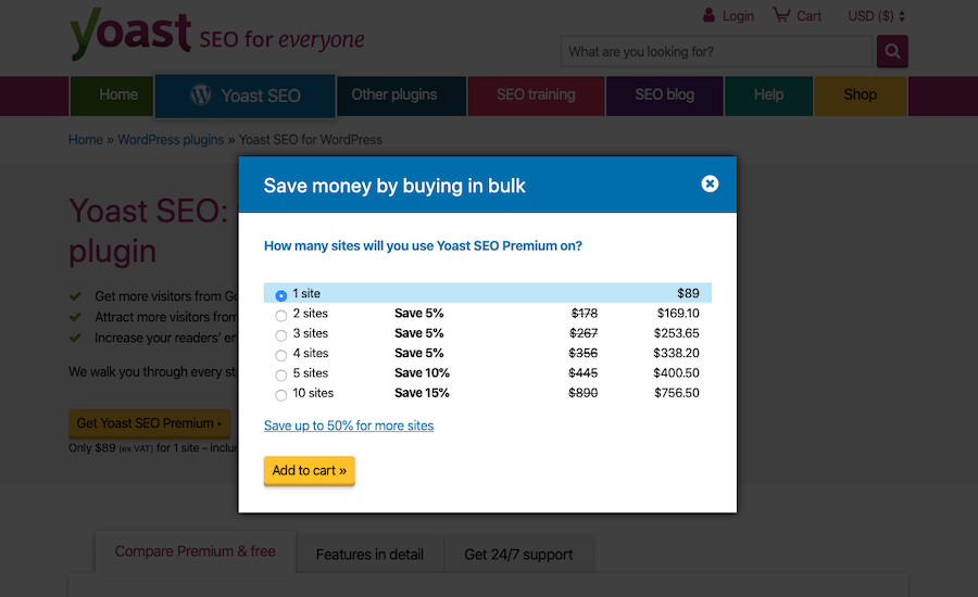 Yoast Premium Pricing