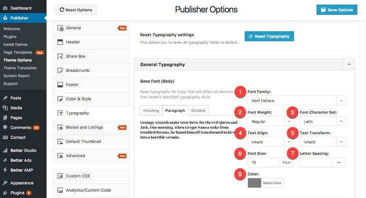 typography-options-publisher