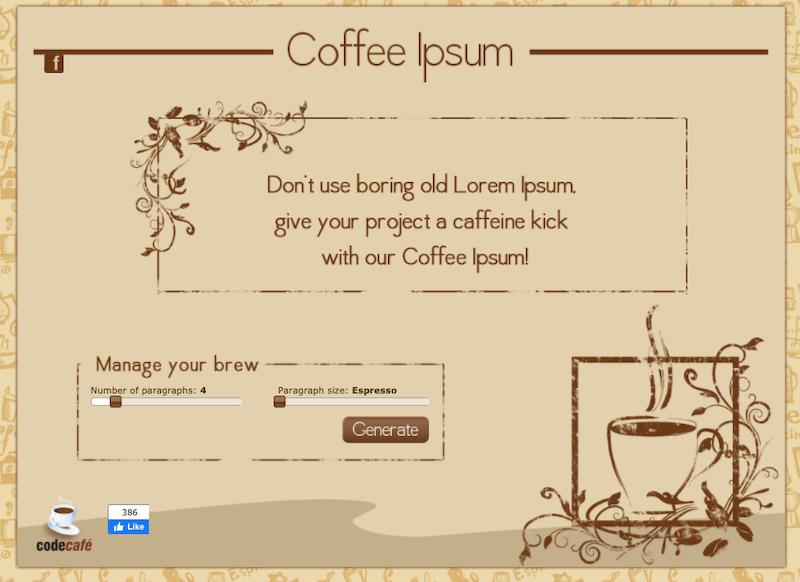 Coffee ipsum