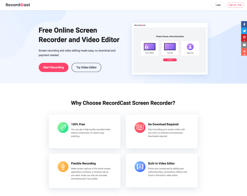 RecordCast Screen Recorder