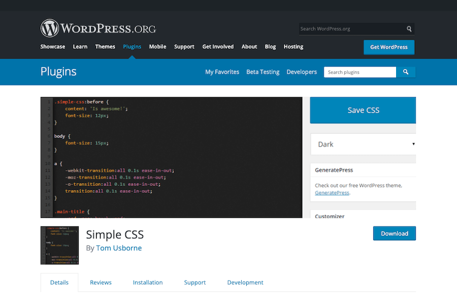 Simple CSS Plugin