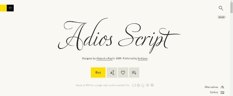 Adios Script