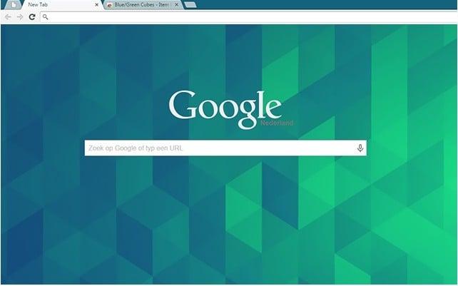 Blue/Green Cubes