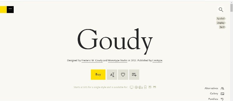 Goudy Font