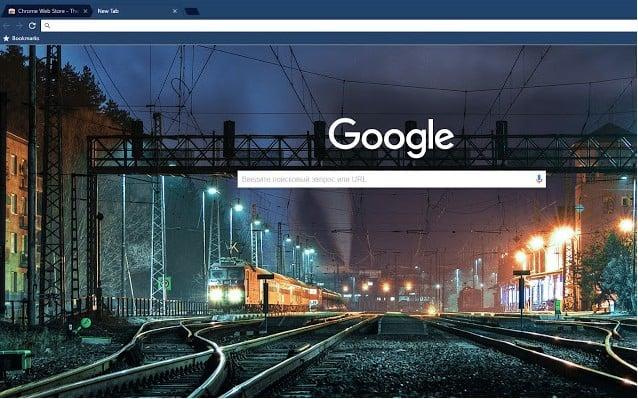 Midnight train dark blue theme