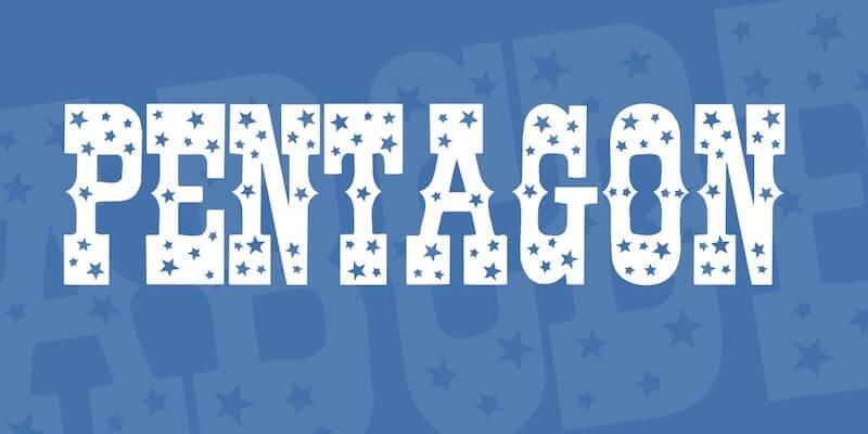 pentagon-font