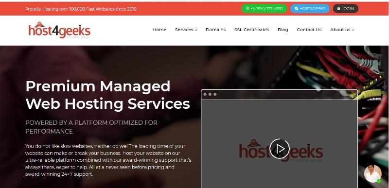 Host4geeks-homepage