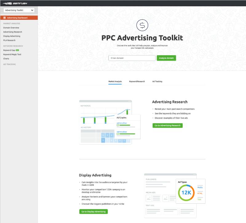 SEMrush PC Advertising Toolkit