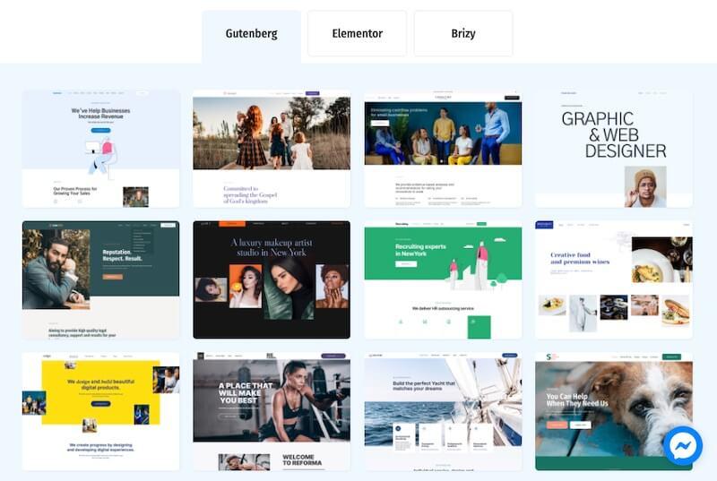 Gutenix Starter Sites