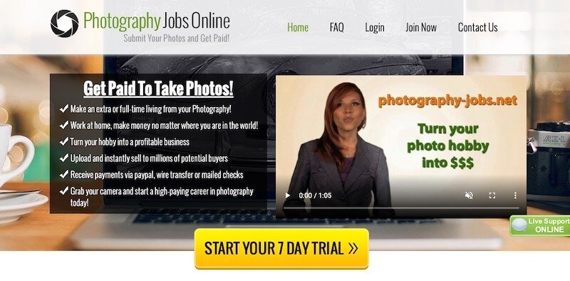 PHOTOGRAPHY JOBS ONLINE