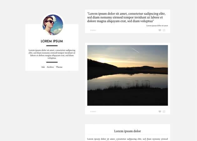 Glump Tumblr Theme