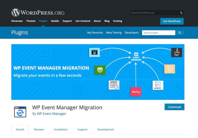 WP Event Manager Migration