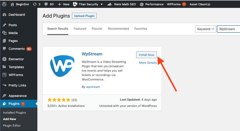 WpStream Plugin