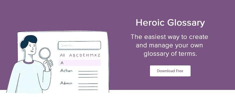 Heroic Glossary