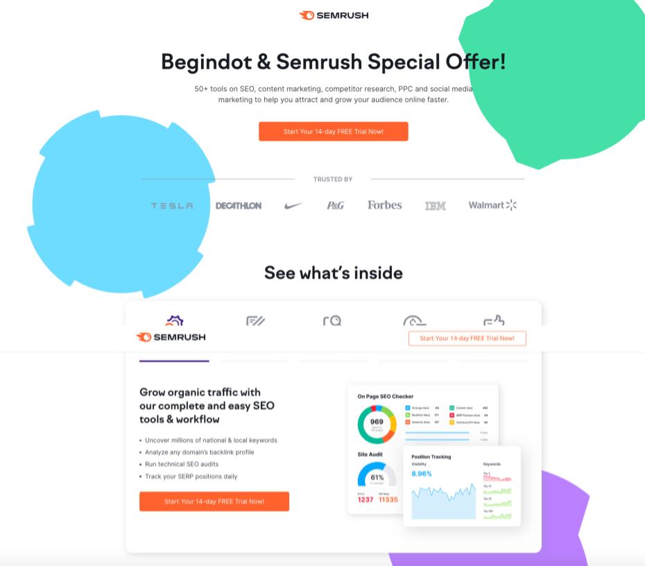 SEMrush Begindot Offer