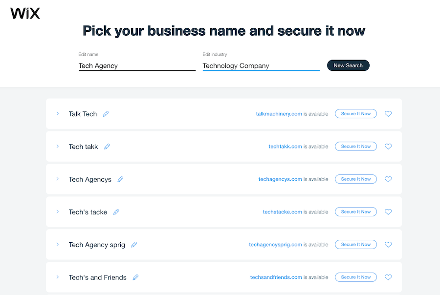 Tech Business Names
