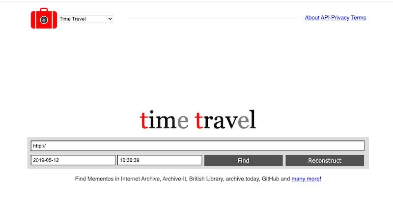 Memento Time Travel