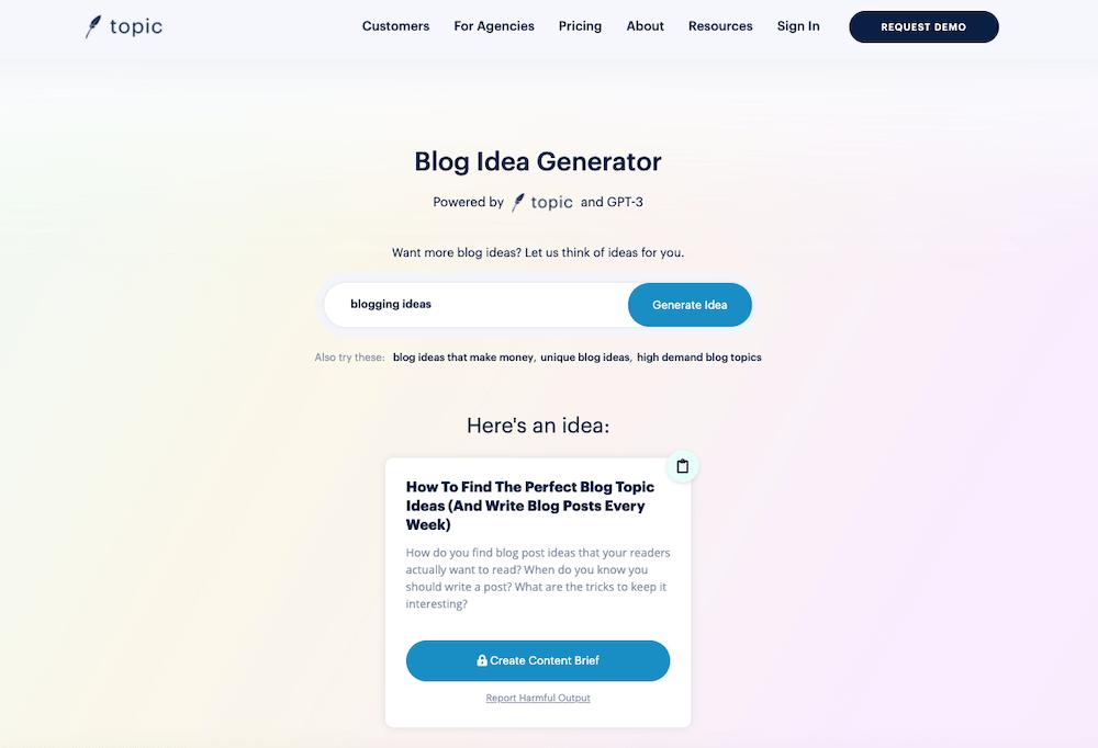 Blog Idea Generator