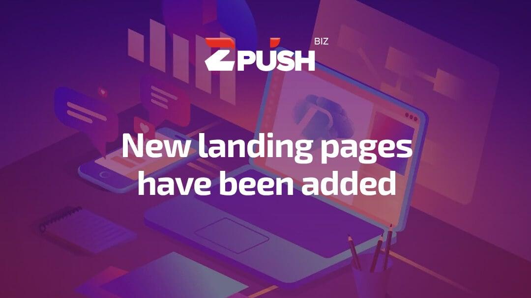 Zpush Landing Page