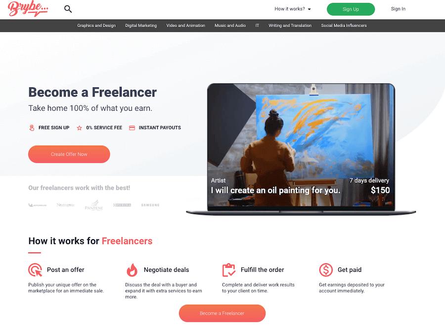 Brybe for Freelancers